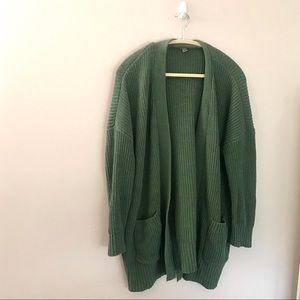 Aerie green polyester cardigan